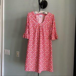 JUDE CONNALLY ELBOW SLEEVE TUNIC SHIFT DRESS